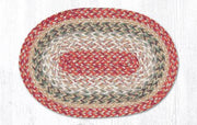 "Capitol Earth RugJute Braided Table Accent/Miniature Swatches, 7.5"" x 11"" Oval, Sage"