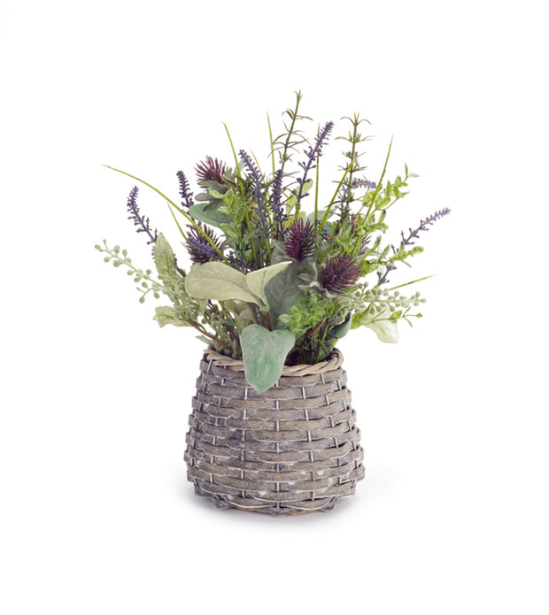 "Melrose International Herb/Thistle Basket, 13""H"