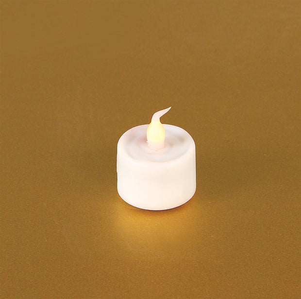Melrose International LED Flickering Tea Light with 6 Hr Timer