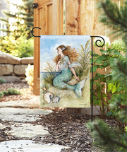 Studio-M Mermaid Song Here Garden Flag