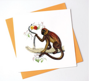 Monkey Quilling Card