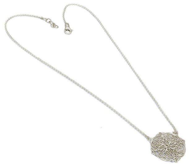 Indiri Collection FILI Round Filigree Necklace
