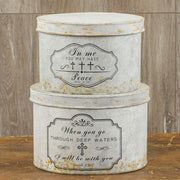 Peace & Serenity Distressed Nesting Storage Boxes