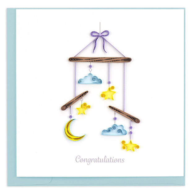 Night Sky Baby Mobile Quilling Card