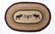 "Capitol Earth Rugs Moose & Pinecone Jute Oval Patch Rug, 20"" x 30"""