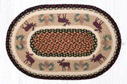 "Capitol Earth Rugs Moose & Pinecone 2 Jute Oval Patch Rug, 20"" x 30"""