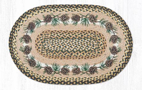 "Capitol Earth Rugs Needs & Cones Print Braided Jute Rug, 20"" x 30"""