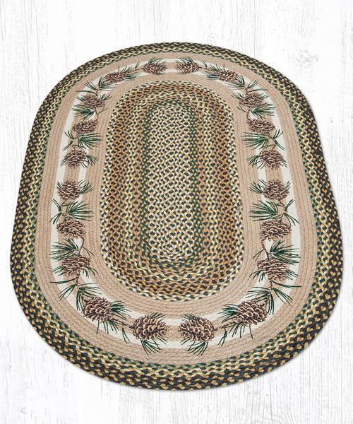 Capitol Earth Rugs Needs & Cones Print Braided Jute Rug, 5' x 8'