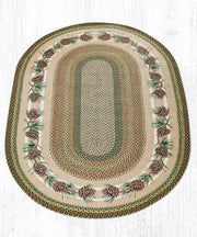 Capitol Earth Rugs Needs & Cones Print Braided Jute Rug, 3' x 5'