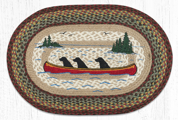 "Capitol Earth Rugs Labs in Canoe Oval Patch Rug, 20"" x 30"""
