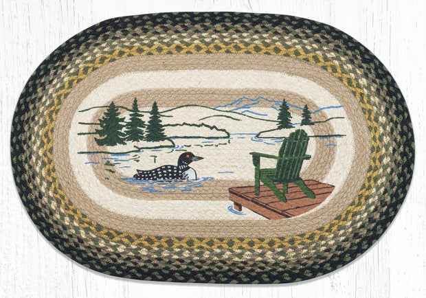 Capitol Earth Rugs Adirondack Loon Oval Patch Rug