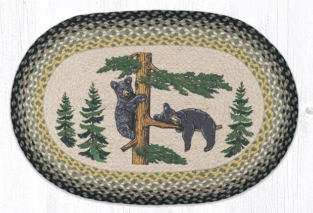 "Capitol Earth Rugs Bear Cubs Oval Patch Rug, 20"" x 30"""