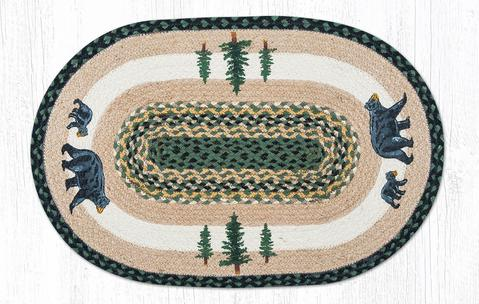 "Capitol Earth Rugs Bear Timbers Oval Patch Rug, 20"" x 30"""