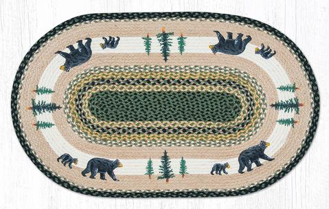 "Capitol Earth Rugs Bear Timbers Oval Patch Rug, 27"" x 45"""