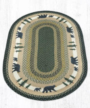 Capitol Earth Rugs Bear Timbers Oval Patch Rug, 3' x 5'