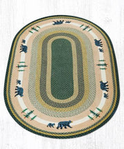 Capitol Earth Rugs Bear Timbers Oval Patch Rug, 5' x 8'