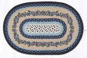 "Capitol Earth Rugs Blueberry Vine Oval Patch Rug, 20"" x 30"""