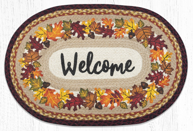 Capitol Earth Rugs Autumn Welcome Oval Patch Rug