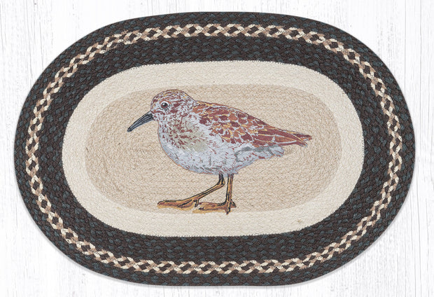 "Capitol Earth Rugs Sandpiper Jute Oval Patch Rug, 20"" x 30"""