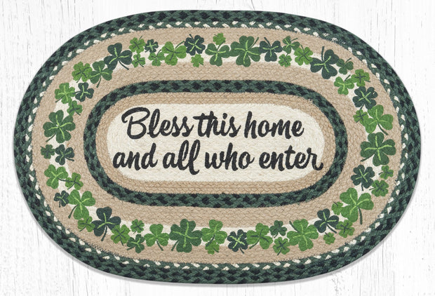 Capitol Earth Rugs Bless This Home Oval Patch Rug