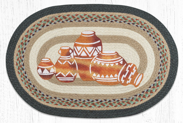 Capitol Earth Rugs Pottery Oval Patch Rug
