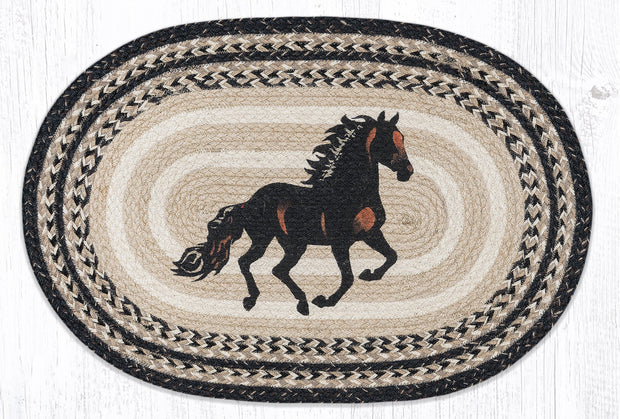 "Capitol Earth Rugs Stallion Craft-Spun Oval Patch Rug, 20"" x 30"""