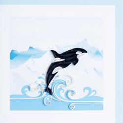 Orca Quilling Card