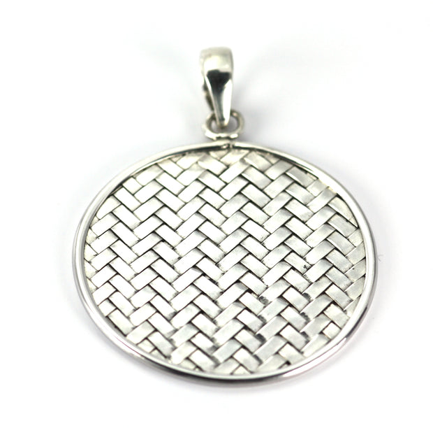 Indiri Collection ANYA Large Woven Disc Pendant