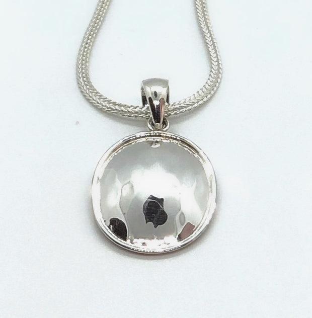 Indiri Collection DASA Hammered Oval Pendant