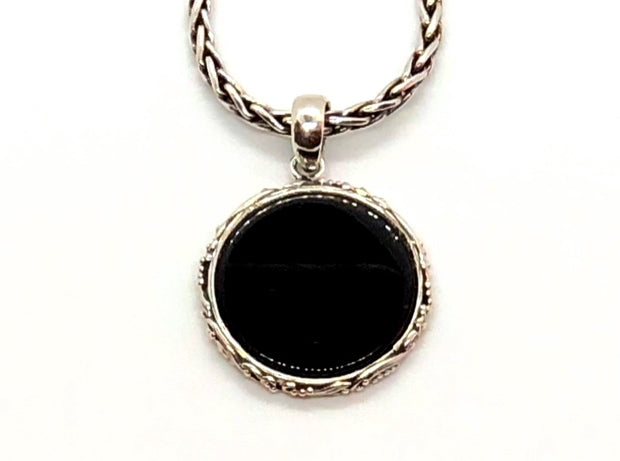 Indiri Collection LOVINA Round Black Onyx Pendant