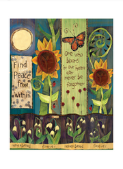 "Studio-M Find Peace 20"" Art Pole"