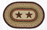 "Capitol Earth Rugs Barn Stars Printed Jute Placemat, 13"" x 19"""