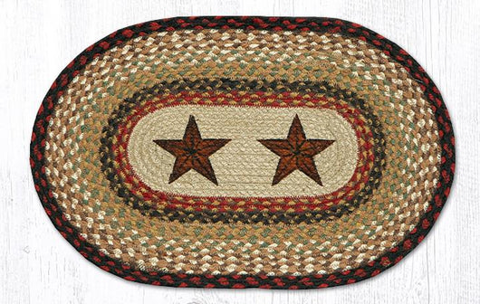 Capitol Earth Rugs Barn Stars Printed Jute Placemat, 13
