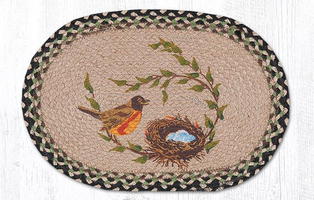 "Capitol Earth Rugs Robins Nest Printed Jute Placemat, 13"" x 19"""