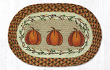 "Capitol Earth Rugs Harvest Pumpkin Printed Jute Placemat, 13"" x 19"""