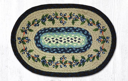 Capitol Earth Rugs Blueberry Vine Printed Jute Placemat, 13