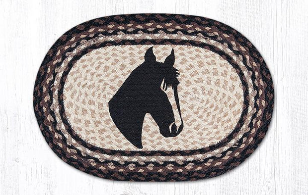 "Capitol Earth Rugs Horse Portrait Printed Jute Placemat, 13"" x 19"""