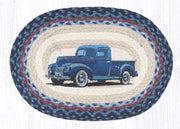 "Capitol Earth Rugs Blue Truck Printed Placemat, 13"" x 19"" Oval"