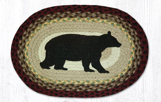 Capitol Earth Rugs Cabin Bear Printed Jute Placemat, 13