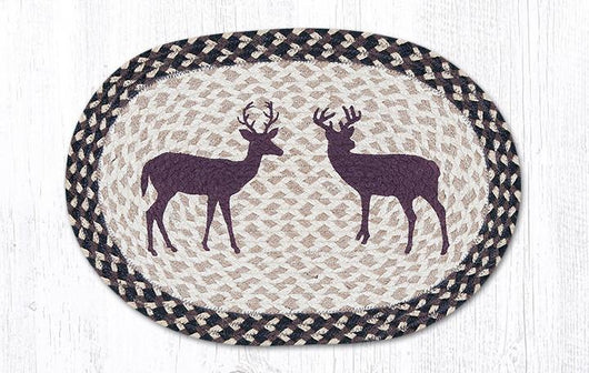 Capitol Earth Rugs Little Bucks Printed Jute Placemat, 13