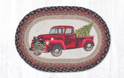 "Capitol Earth Rugs Christmas Truck Printed Jute Placemat, 13"" x 19"""