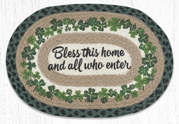 Capitol Earth Rugs Bless This Home Printed Jute Placemat,