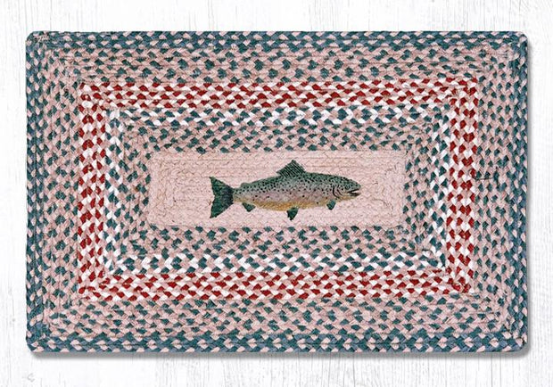 "Capitol Earth Rugs Fish Oblong Patch Rug, 20"" x 30"""