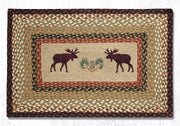 "Capitol Earth Rugs Moose Printed Jute Patch Rug, 20"" x 30"" Oblong"