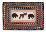 "Capitol Earth Rugs Bear & Moose Oblong Patch Rug, 20"" x 30"" Oblong"