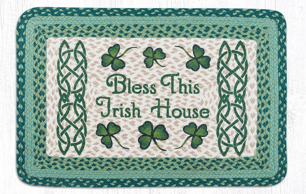"Capitol Earth Rugs Bless This Irish House Oblong Patch Rug, 20"" x 30"""