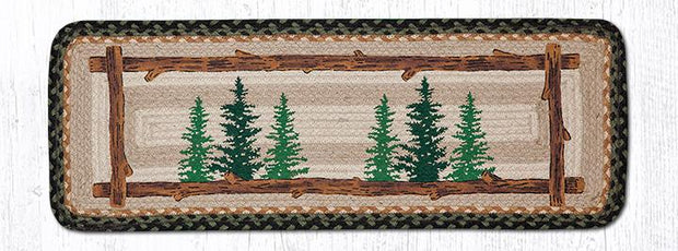 "Capitol Earth Rugs Tall Timbers Printed Jute Table Runner, 13"" x 36"" Rectangle"