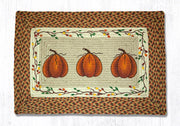 "Capitol Earth Rugs Harvest Pumpkin Patch Rug, 20"" x 30"" Oblong"