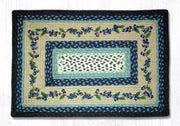 "Capitol Earth Rugs Blueberry Vine Printed Jute Patch Rug, 20"" x 30"" Oblong"