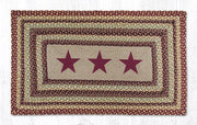 Burgundy Stars on Gold Patch Rug - Oval, Round, & Oblong
